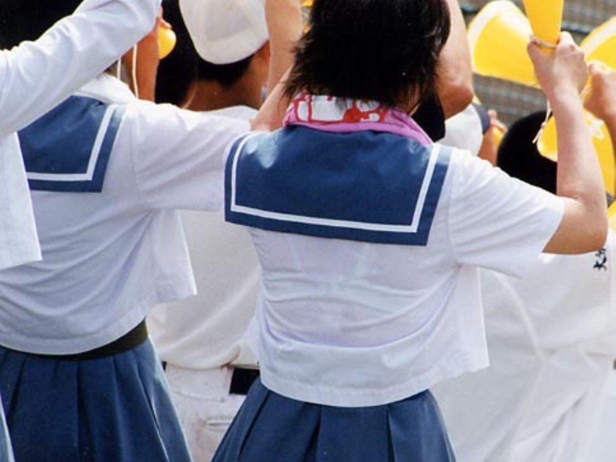 制服JK 透けブラ画像 109