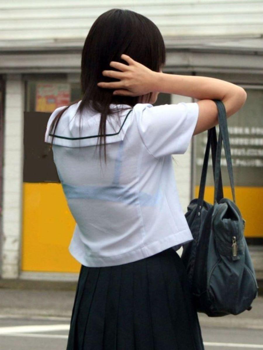 制服JK 透けブラ画像 112