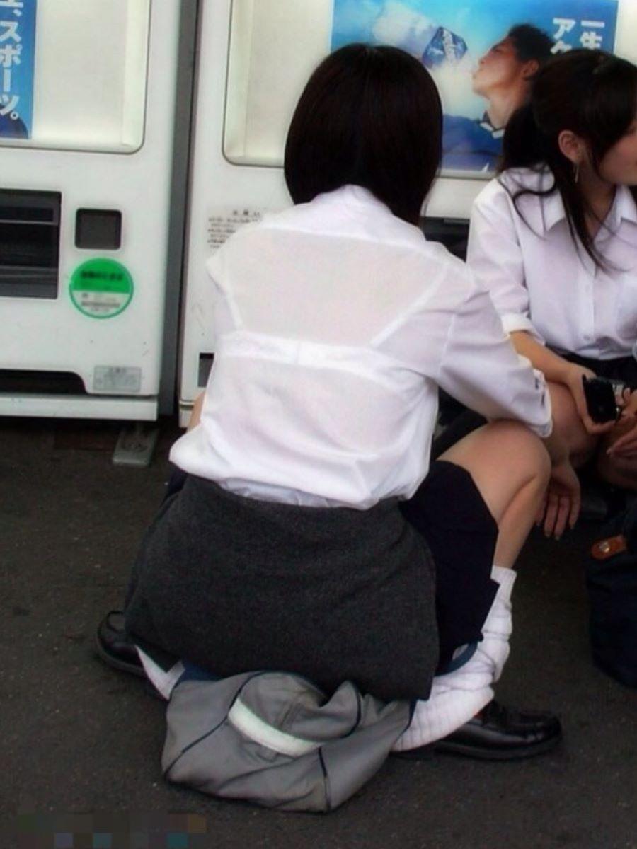 制服JK 透けブラ画像 118