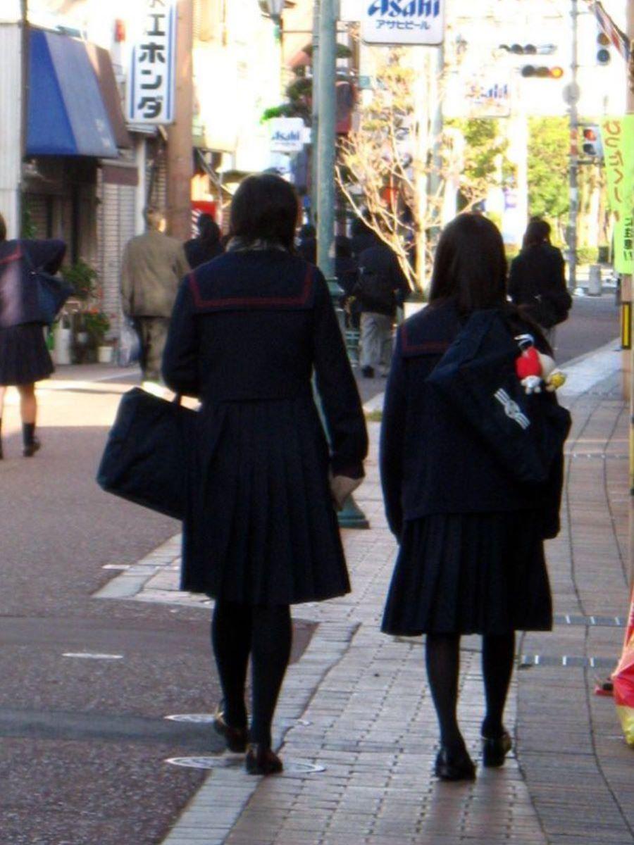 冬服JK 街撮り画像 17