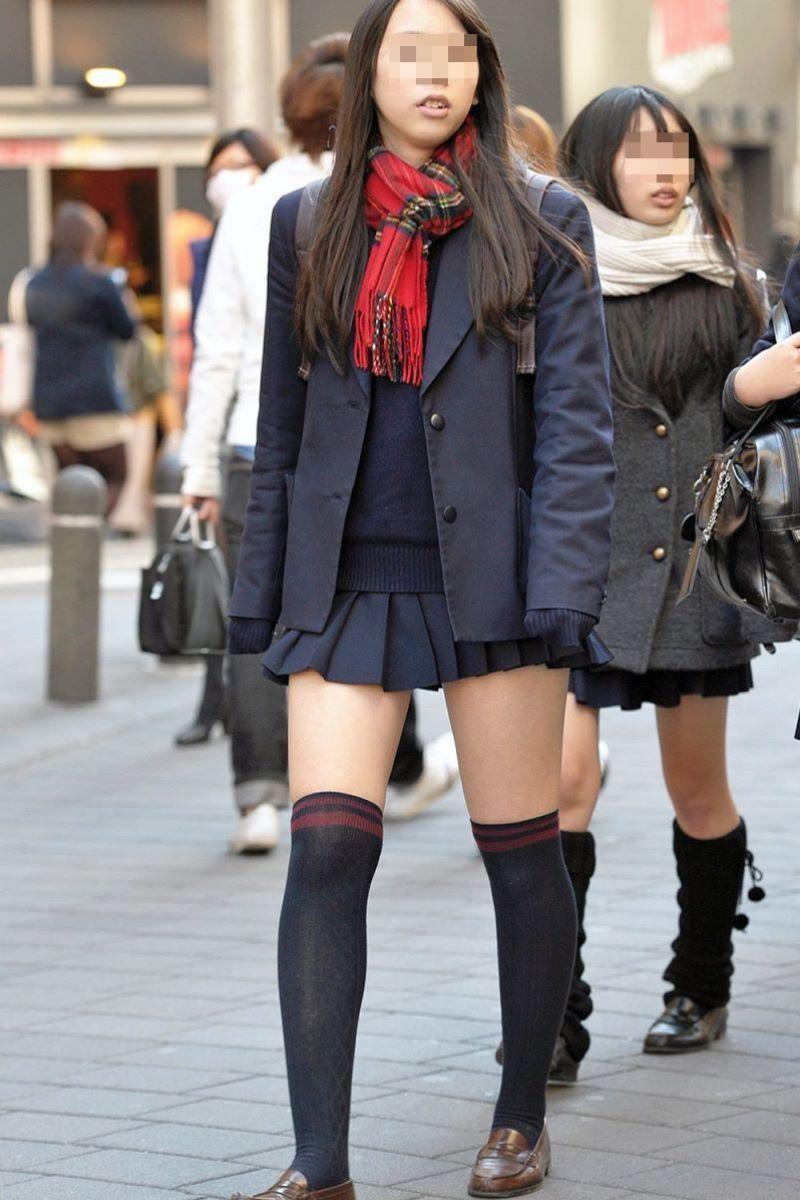 冬服JK 街撮り画像 35