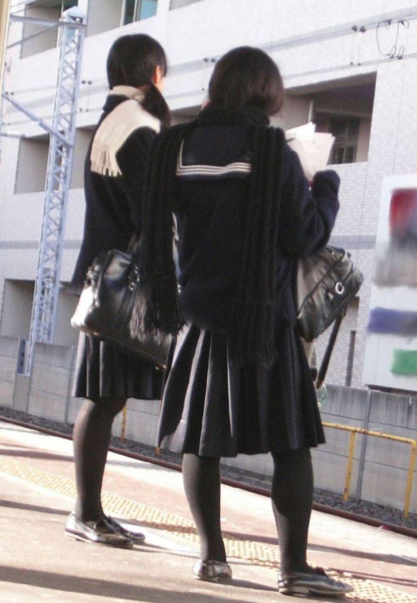冬服JK 街撮り画像 56