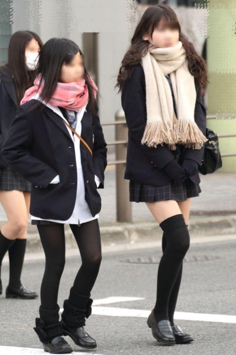 冬服JK 街撮り画像 72