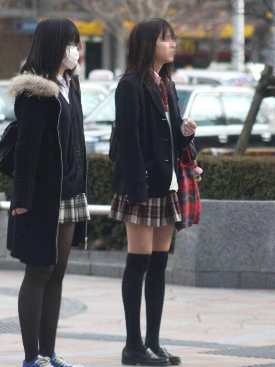 冬服JK 街撮り画像 82
