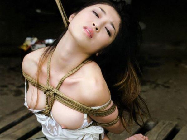 緊縛されている美女が意外とエロかった…(※SM画像あり)