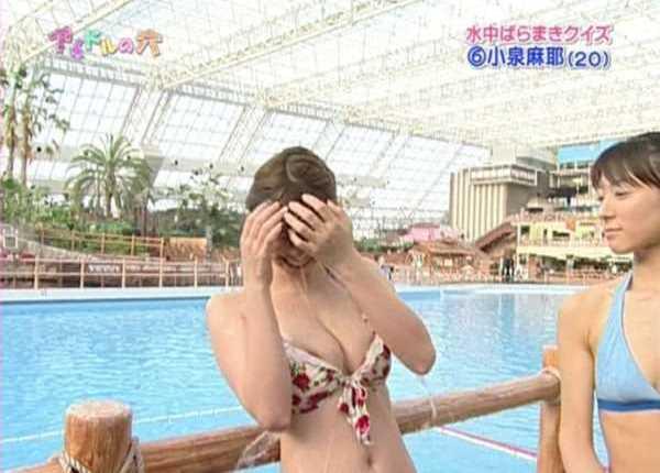乳首がテレビに映った胸チラがコチラ…(※エロ画像あり)