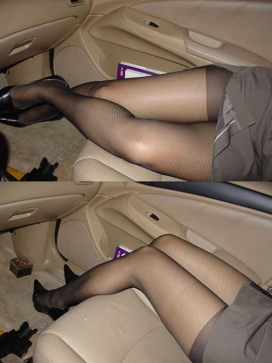 車内 ミニスカ画像 46