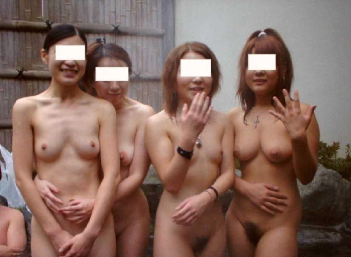 温泉や風呂場の素人おふざけ画像 55