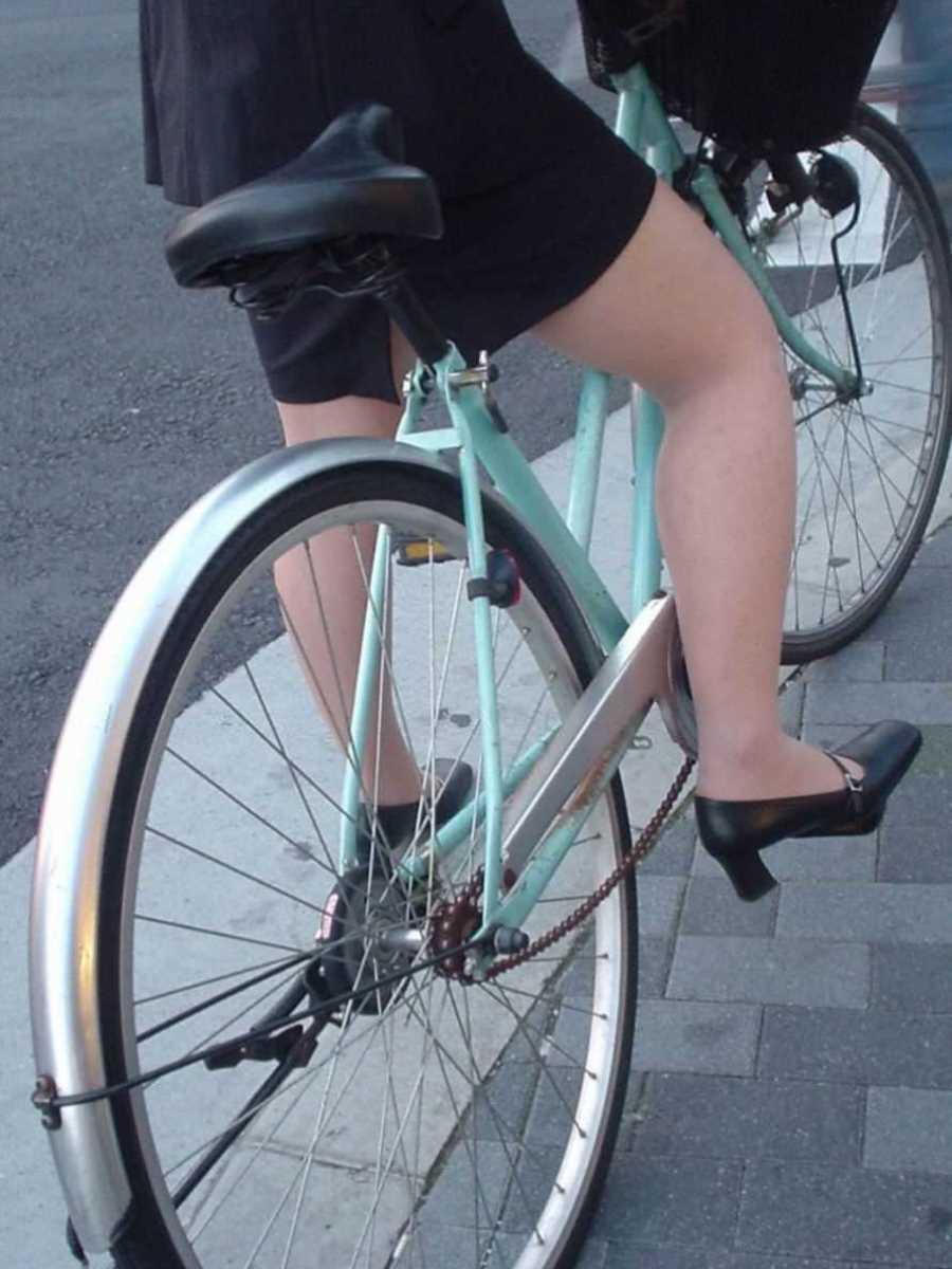 自転車OL画像 2
