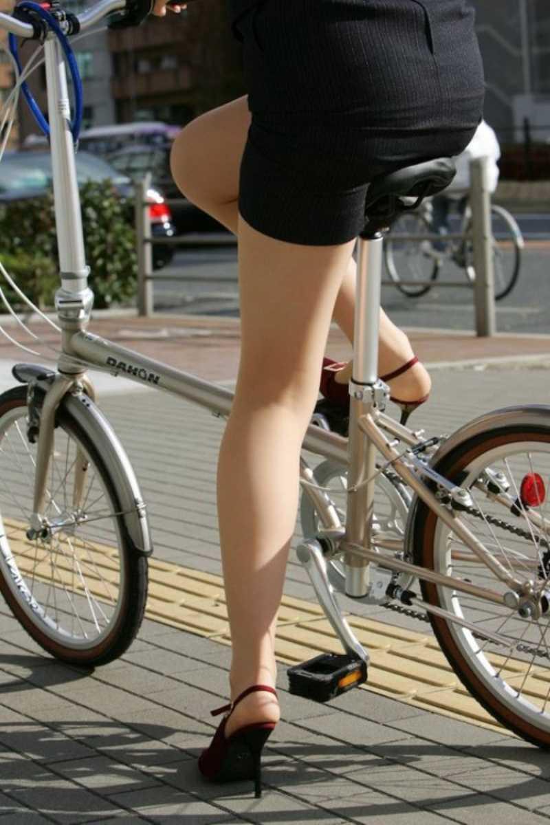 自転車OL画像 5