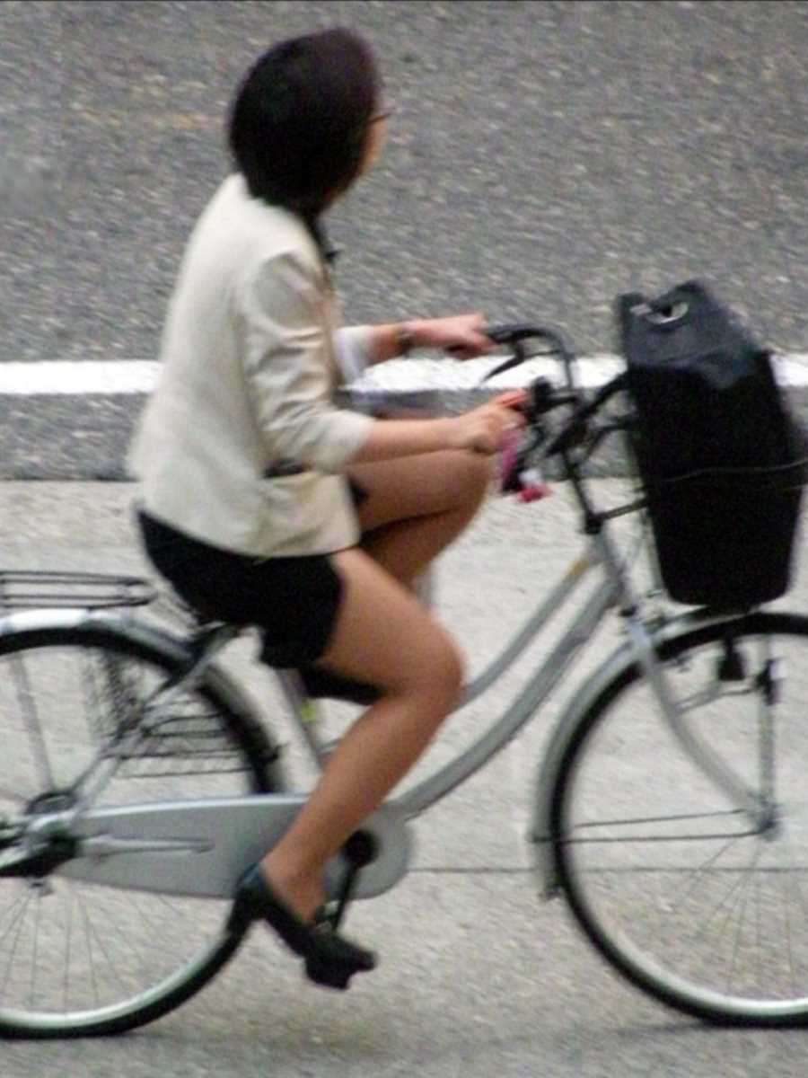 自転車OL画像 6