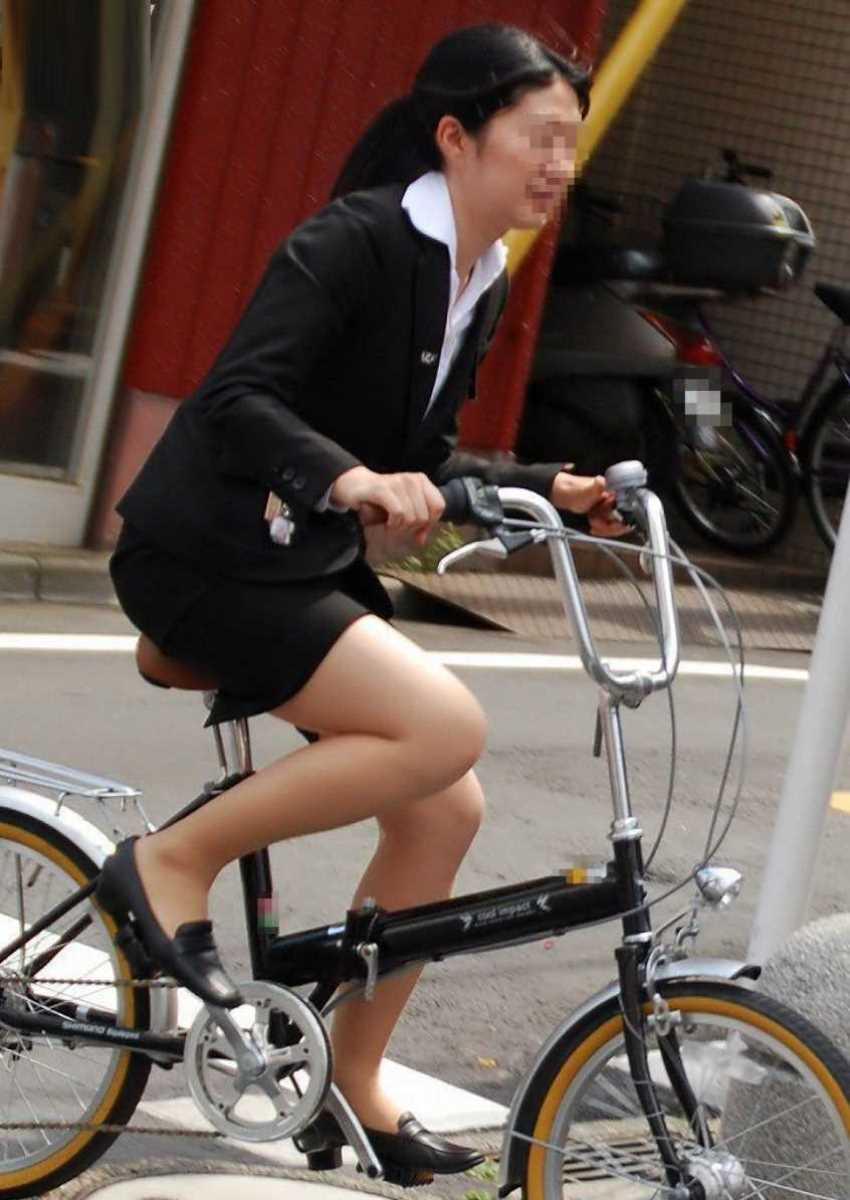自転車OL画像 8