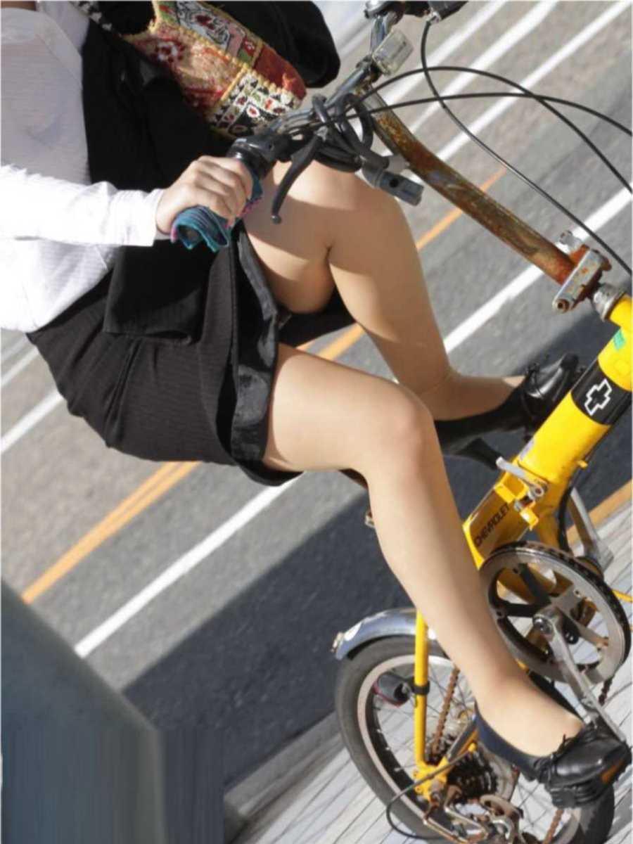 自転車OL画像 11