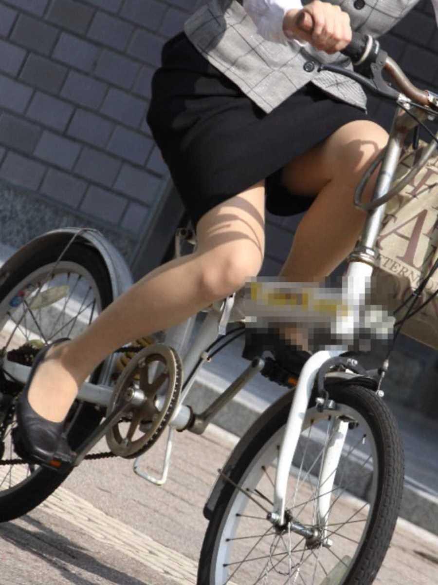 自転車OL画像 13