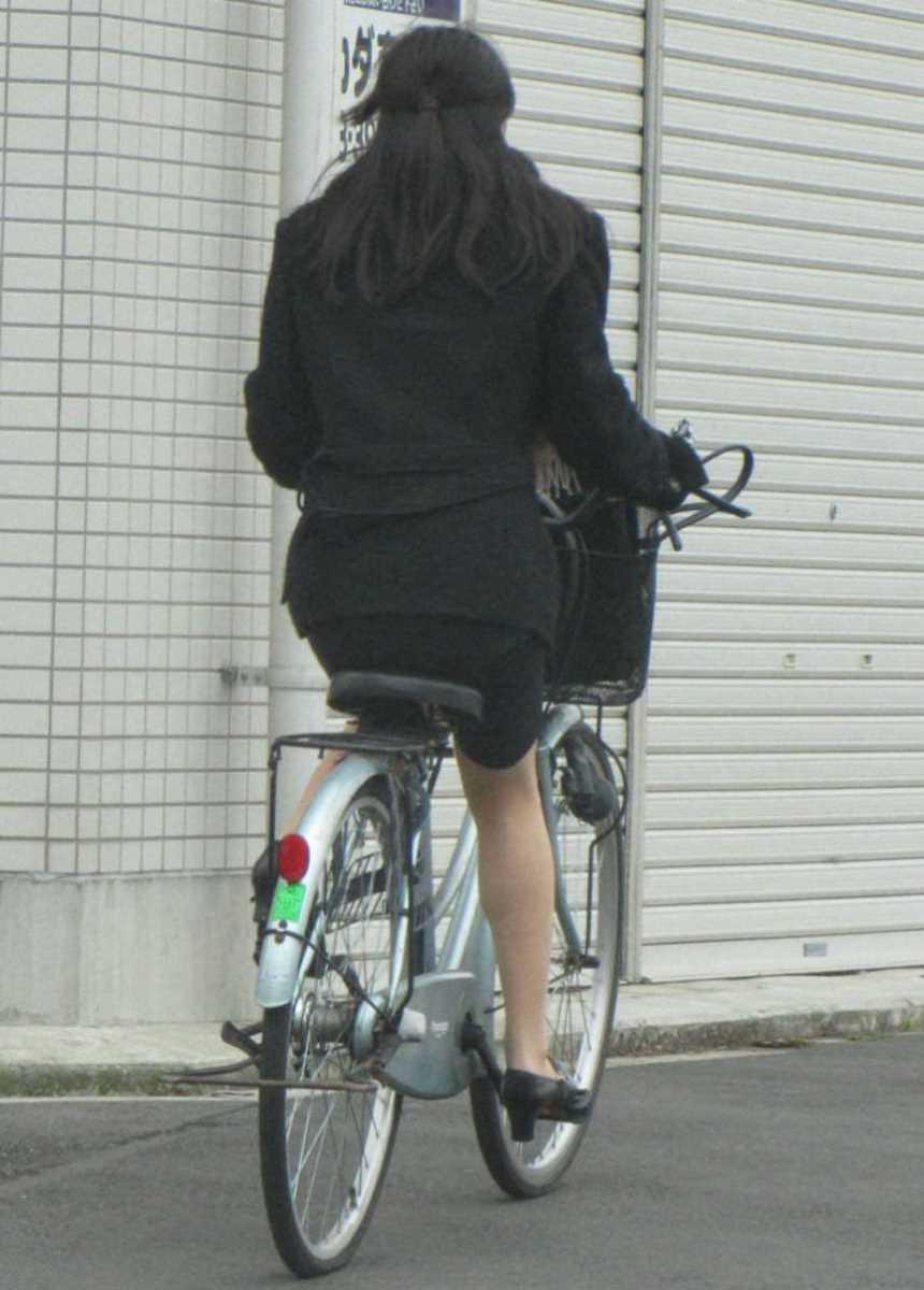 自転車OL画像 14