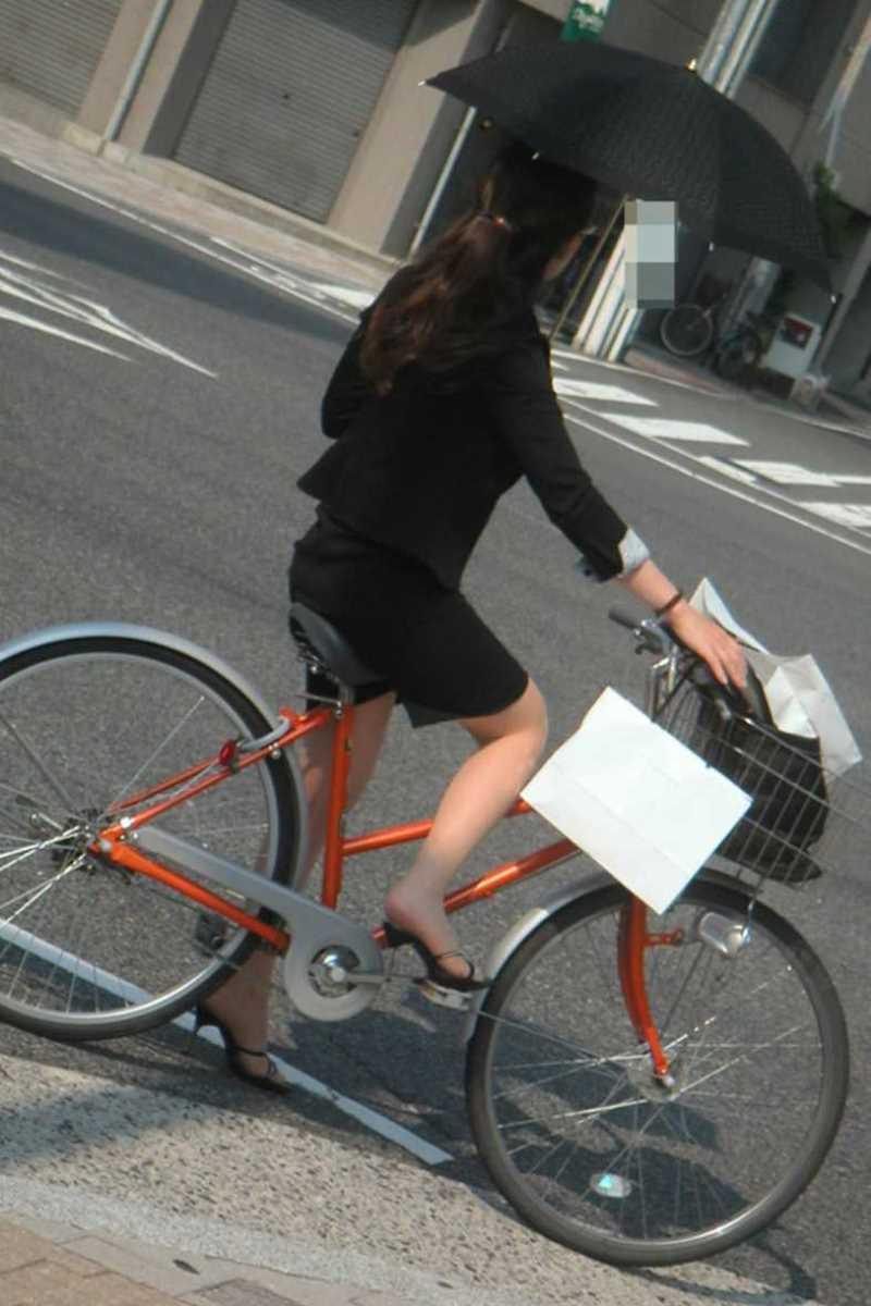 自転車OL画像 18
