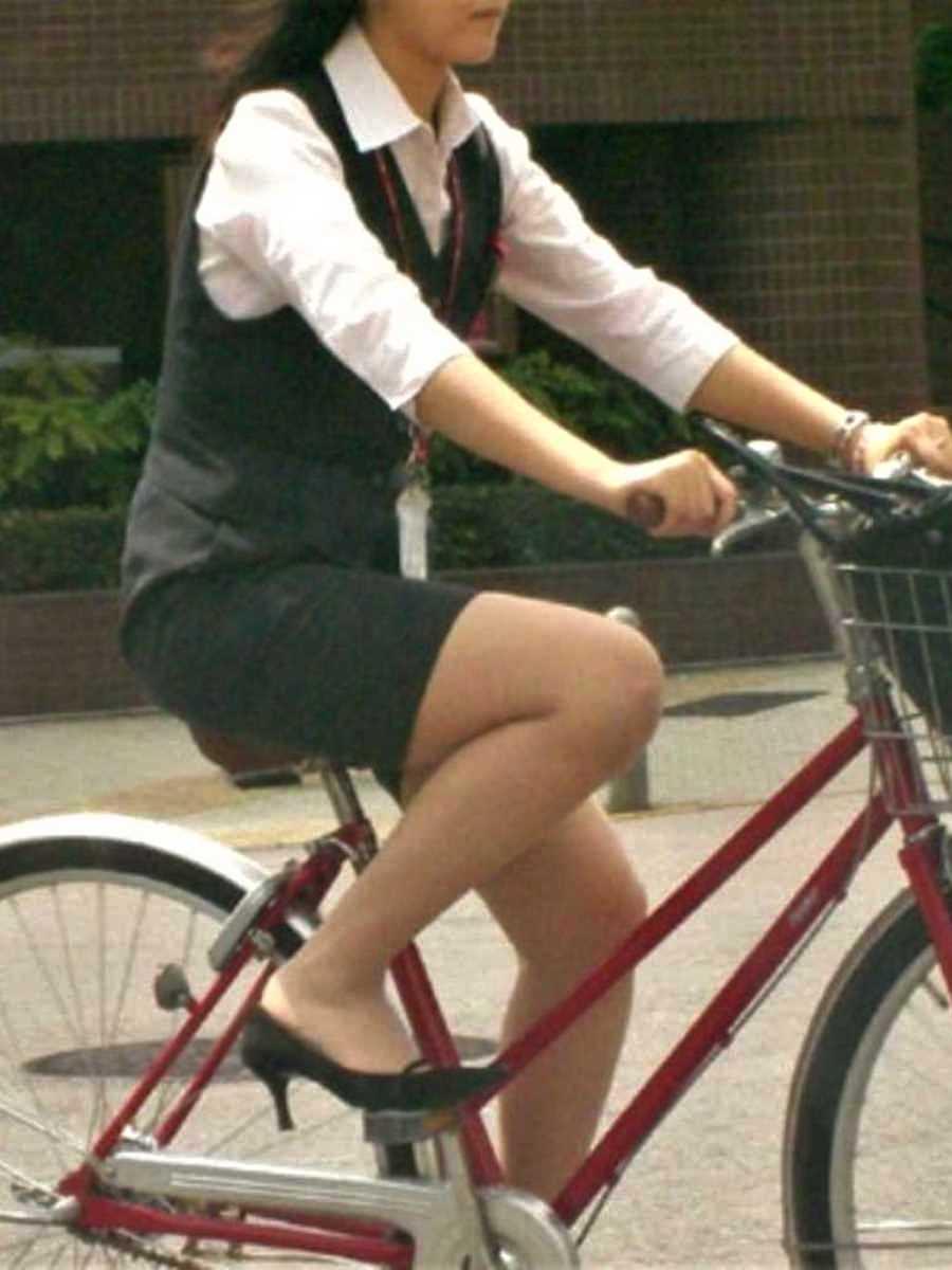 自転車OL画像 21
