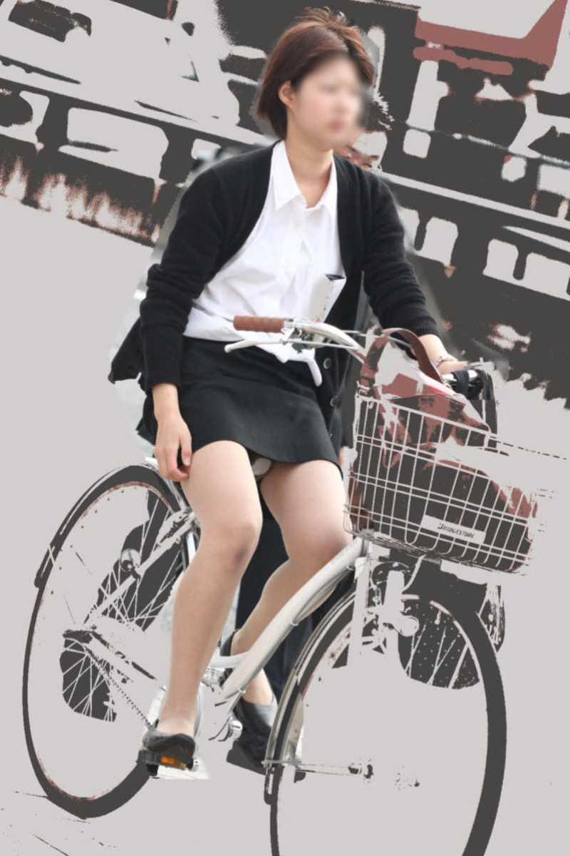自転車OL画像 24