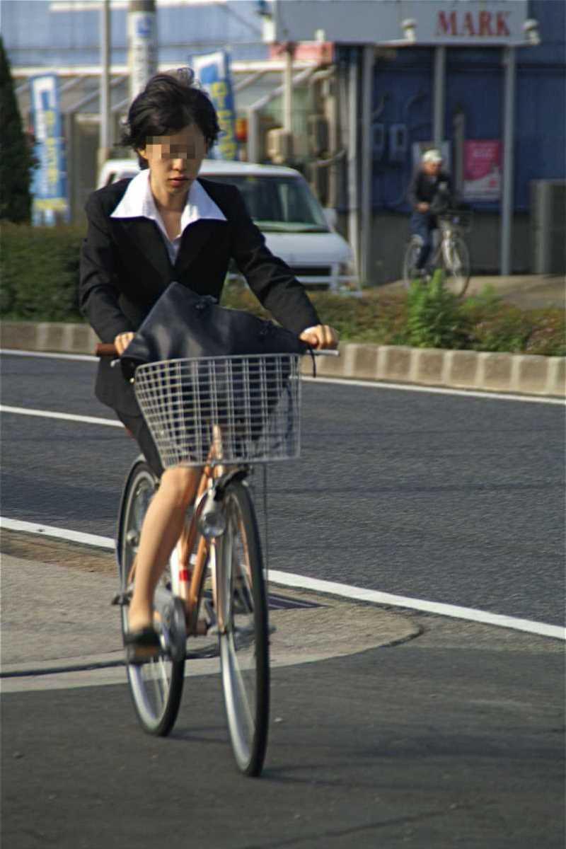 自転車OL画像 28