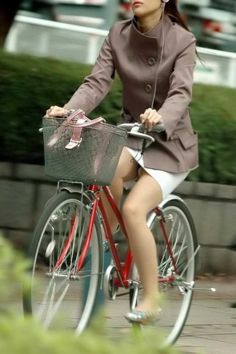 自転車OL画像 30