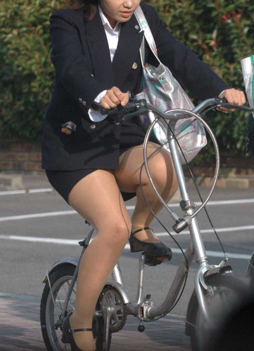 自転車OL画像 32