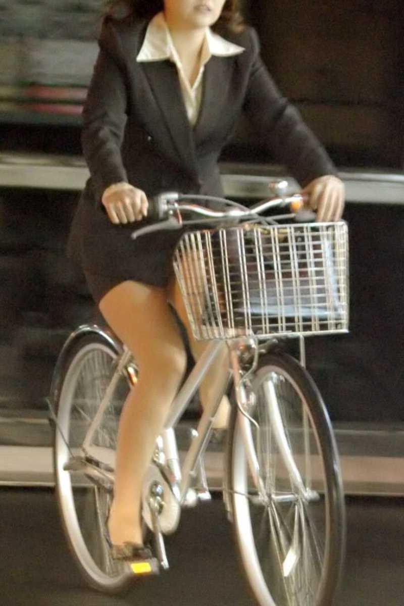 自転車OL画像 40