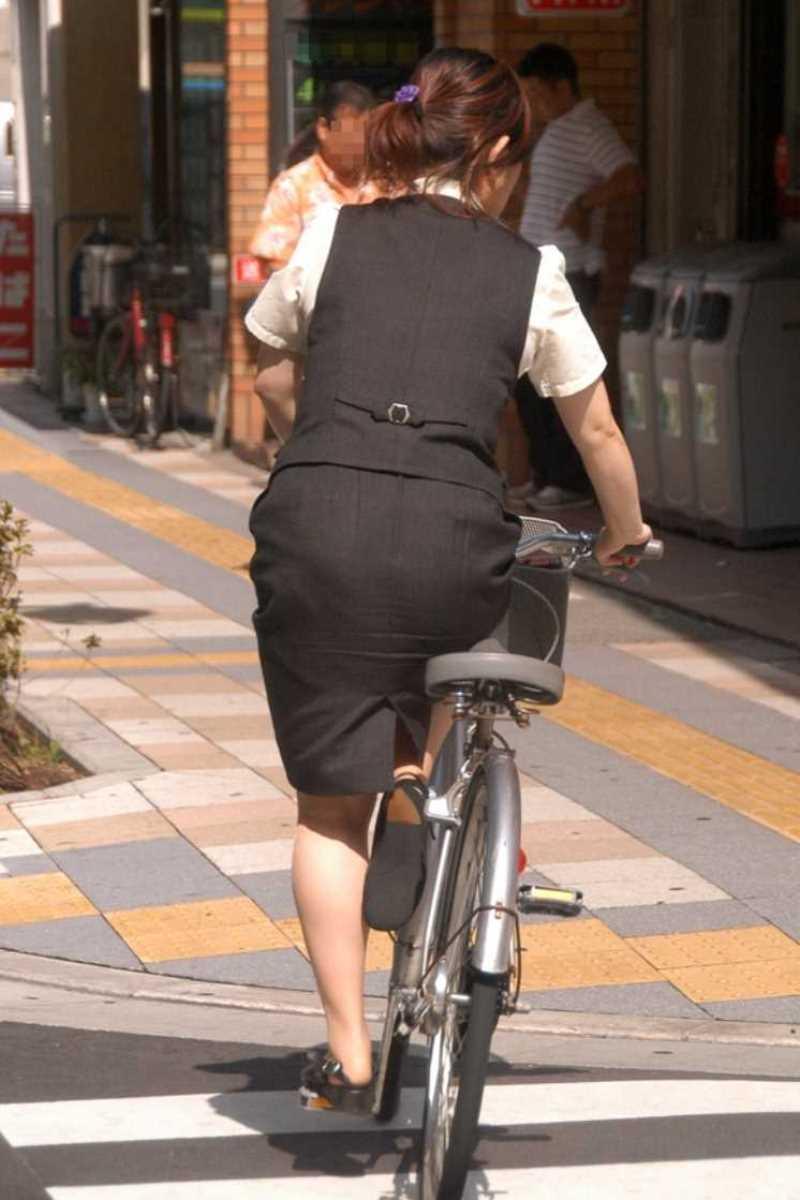 自転車OL画像 47