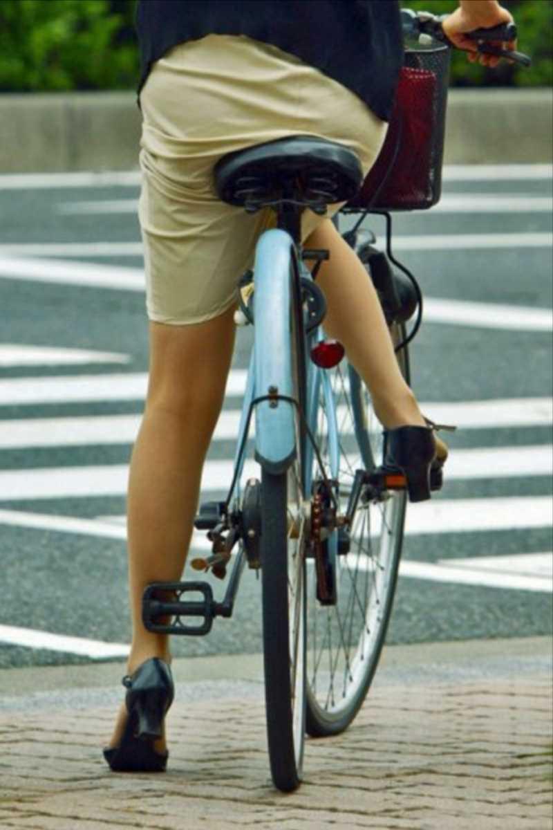 自転車OL画像 48
