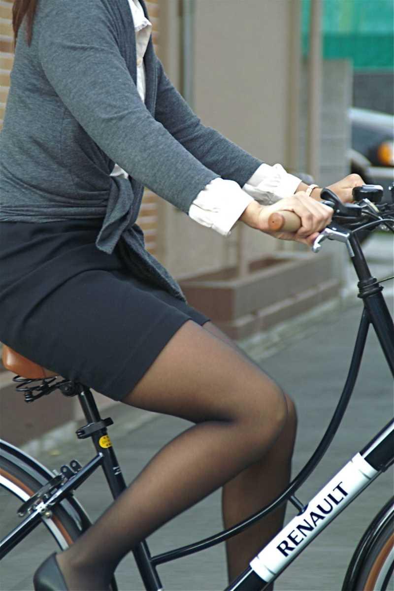 自転車OL画像 51