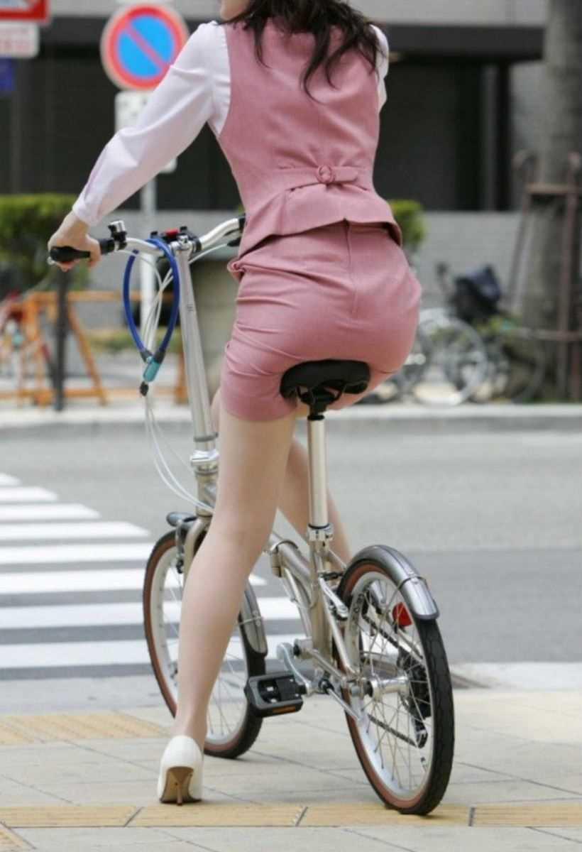 自転車OL画像 55