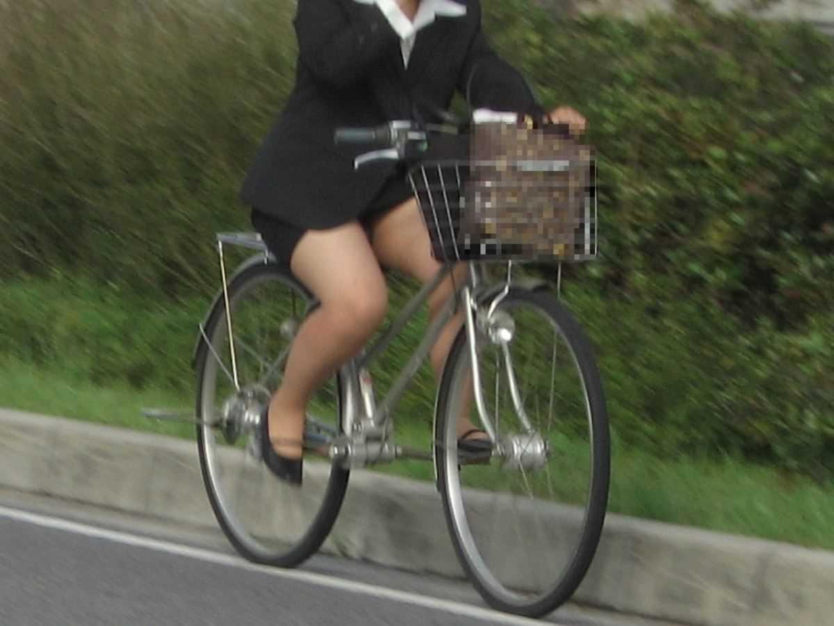 自転車OL画像 59