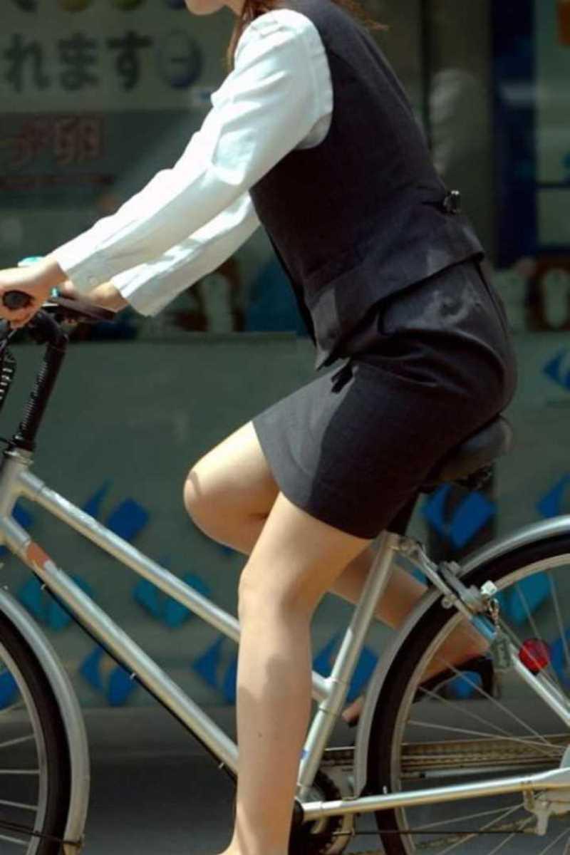 自転車OL画像 67