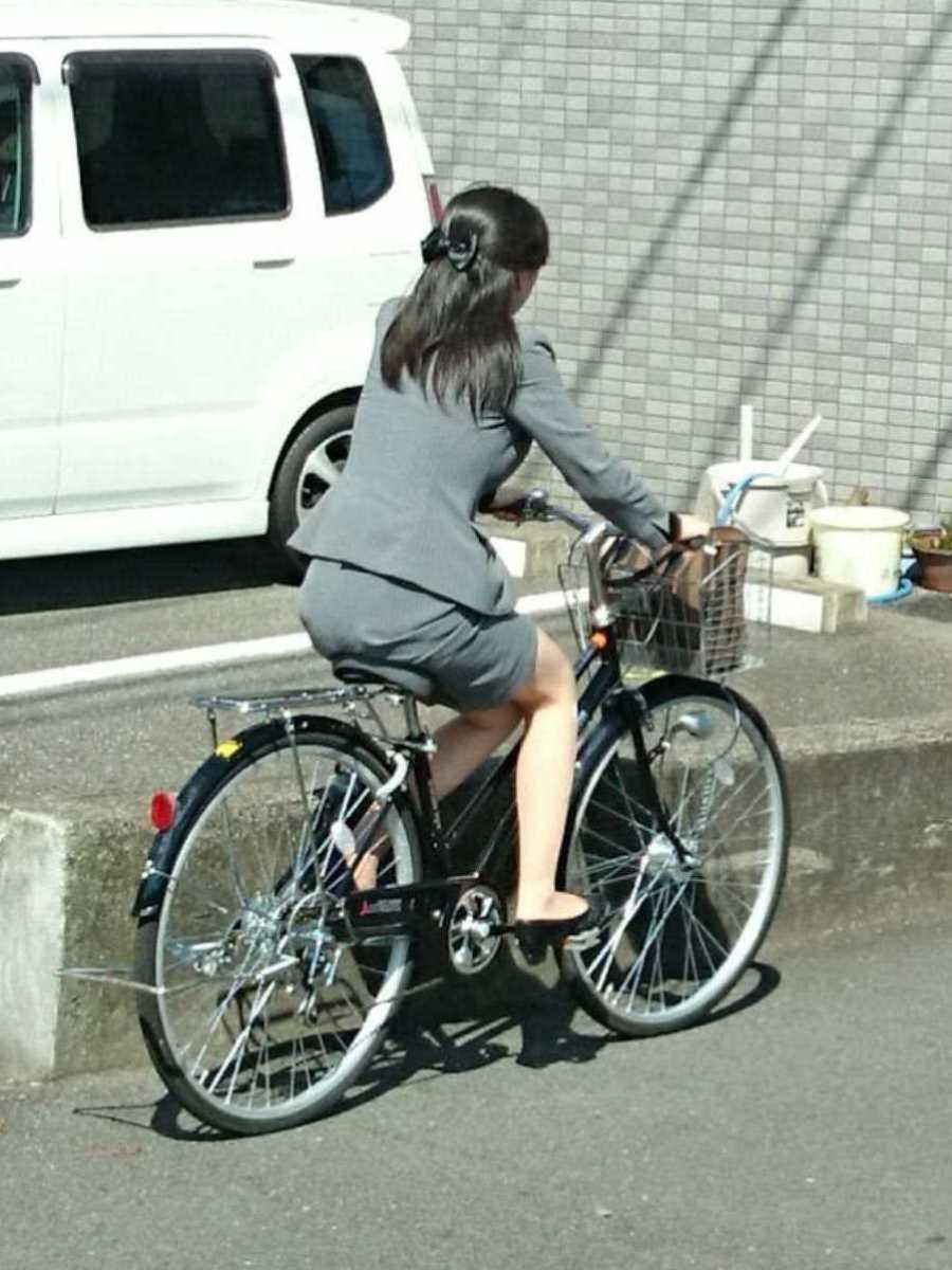 自転車OL画像 72