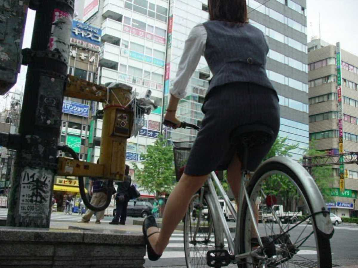 自転車OL画像 73