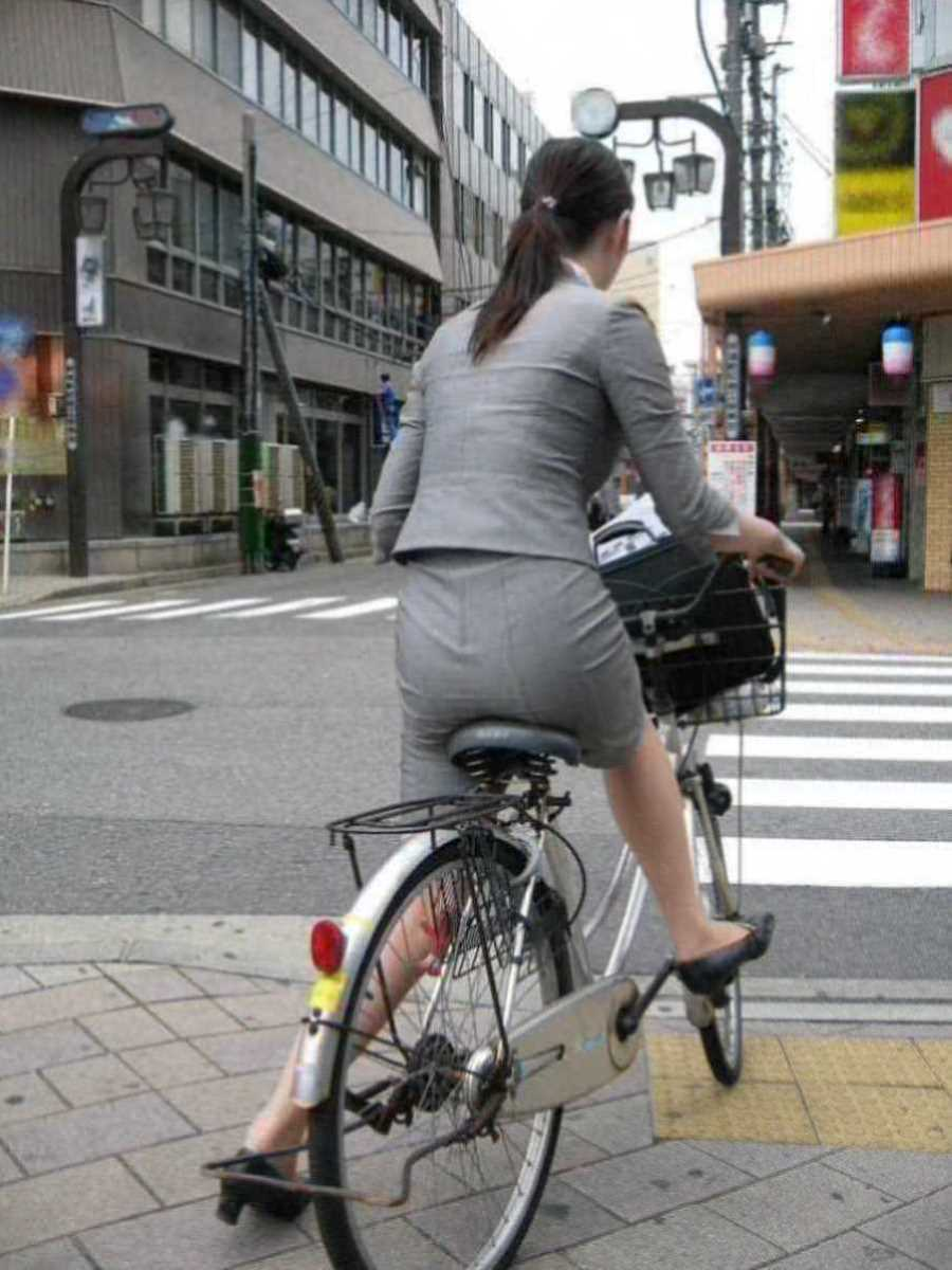自転車OL画像 75