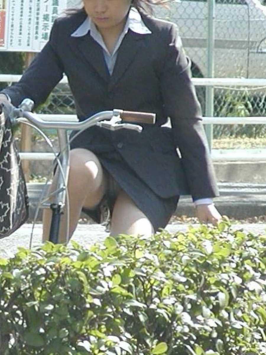 自転車OL画像 76