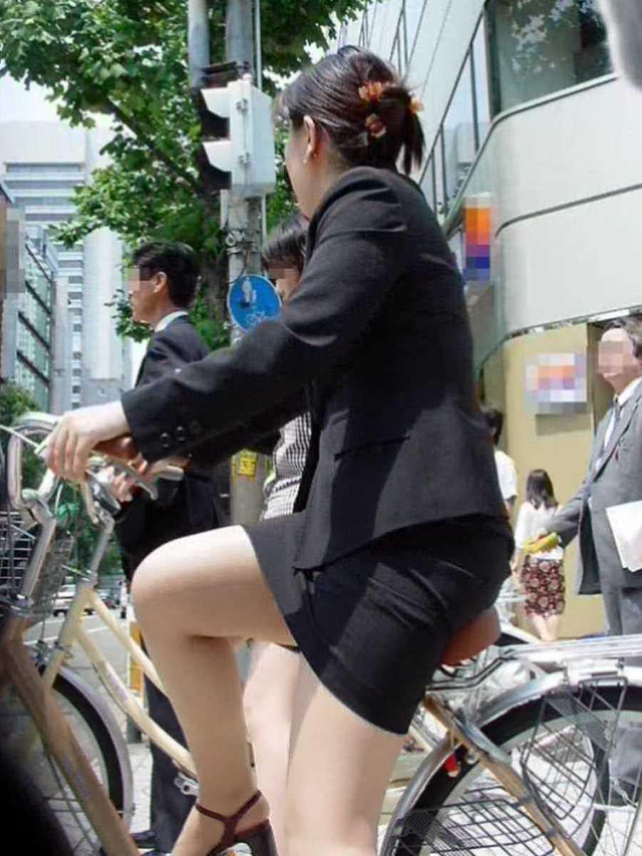 自転車OL画像 78