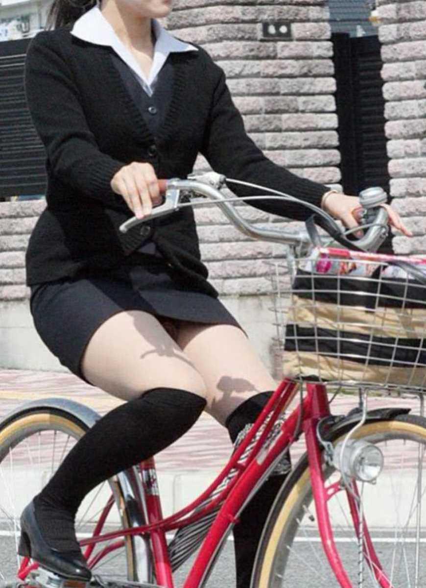 自転車OL画像 79