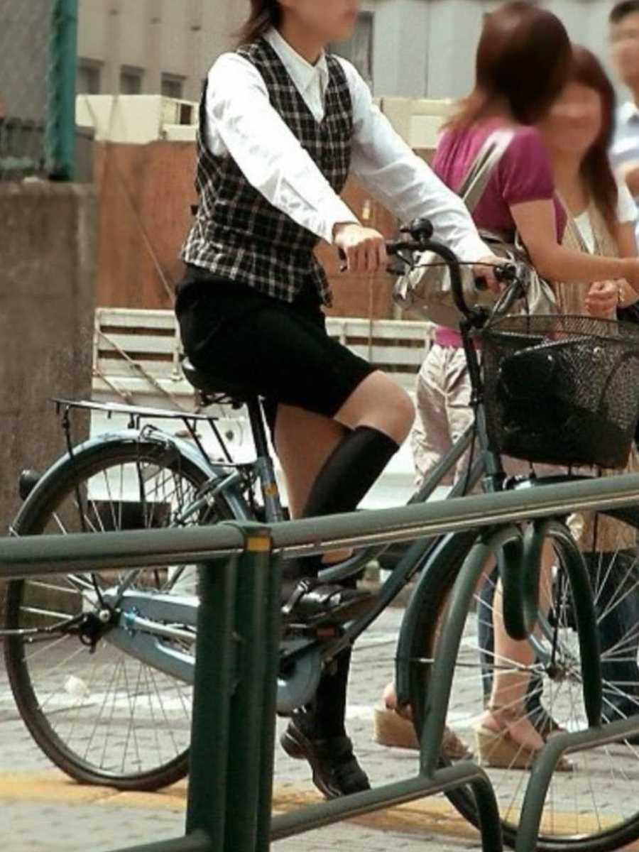自転車OL画像 81