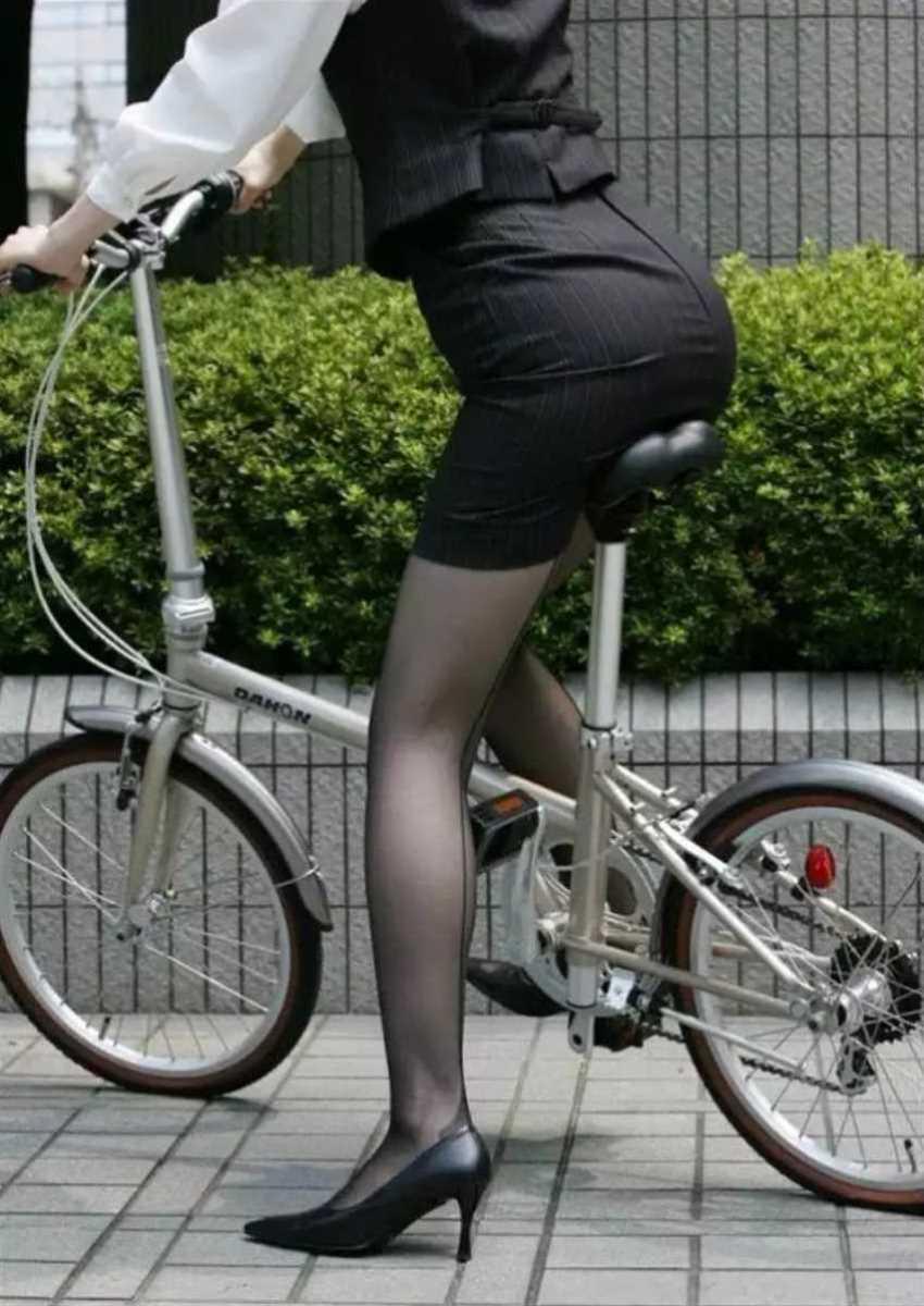 自転車OL画像 82