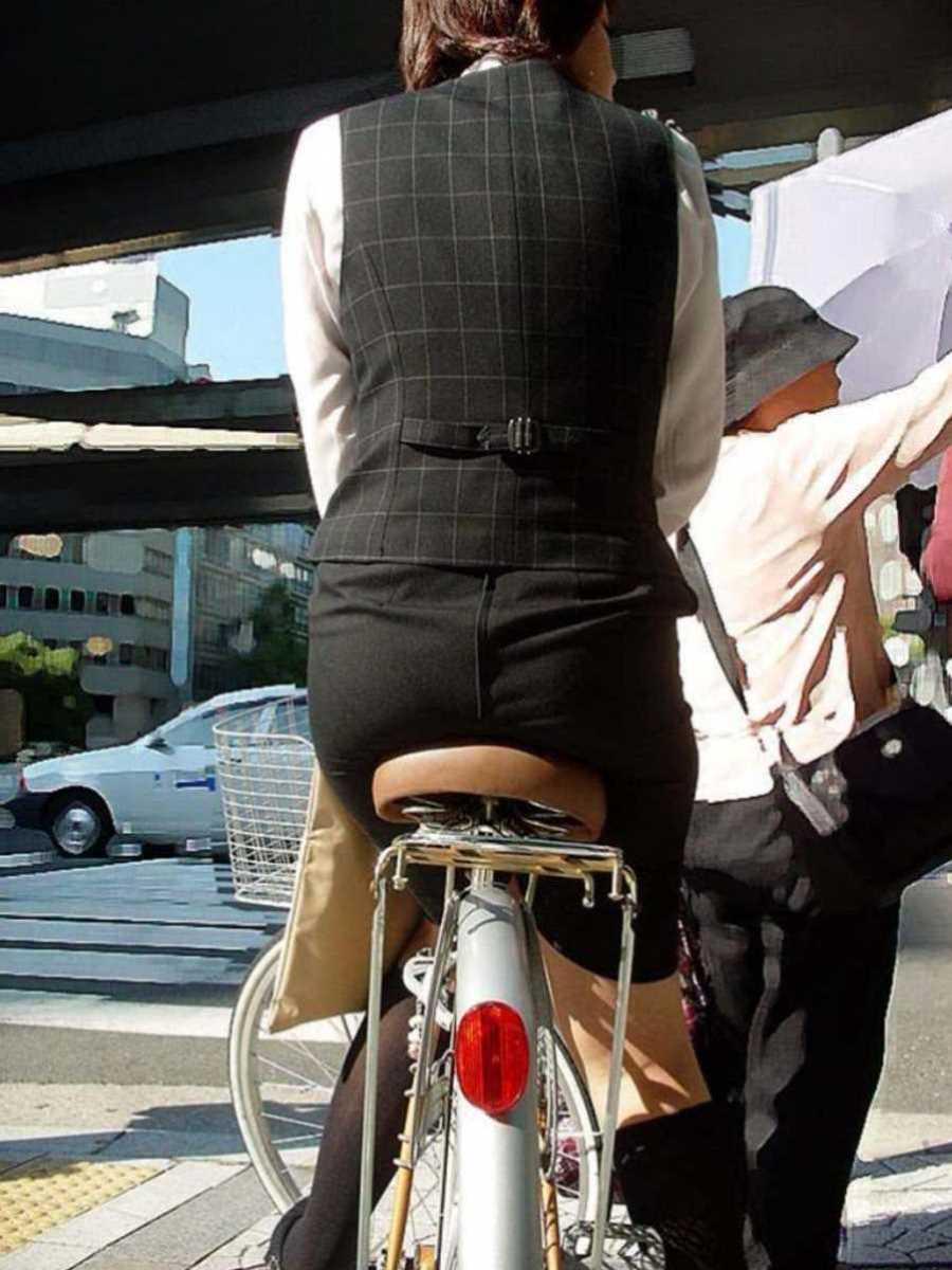自転車OL画像 84