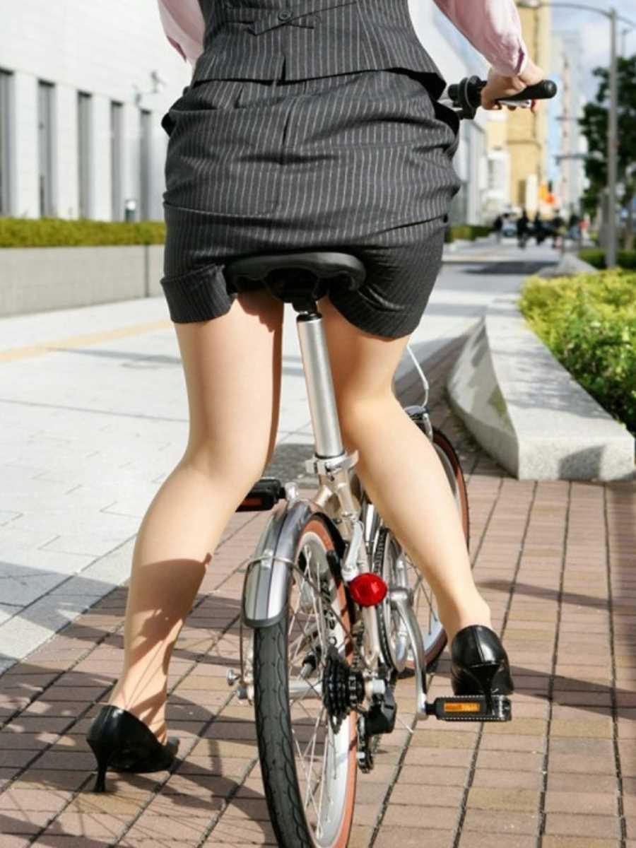 自転車OL画像 85