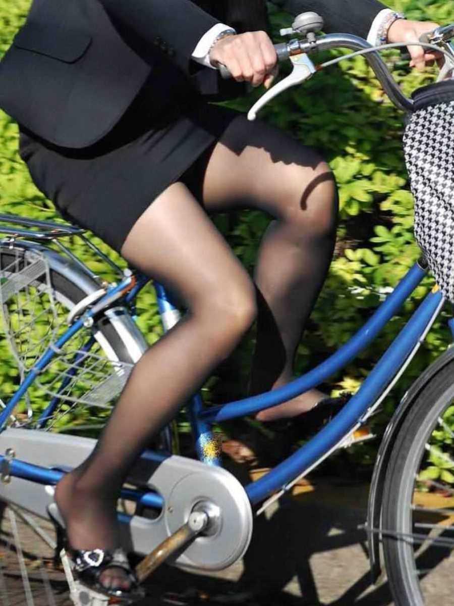 自転車OL画像 86