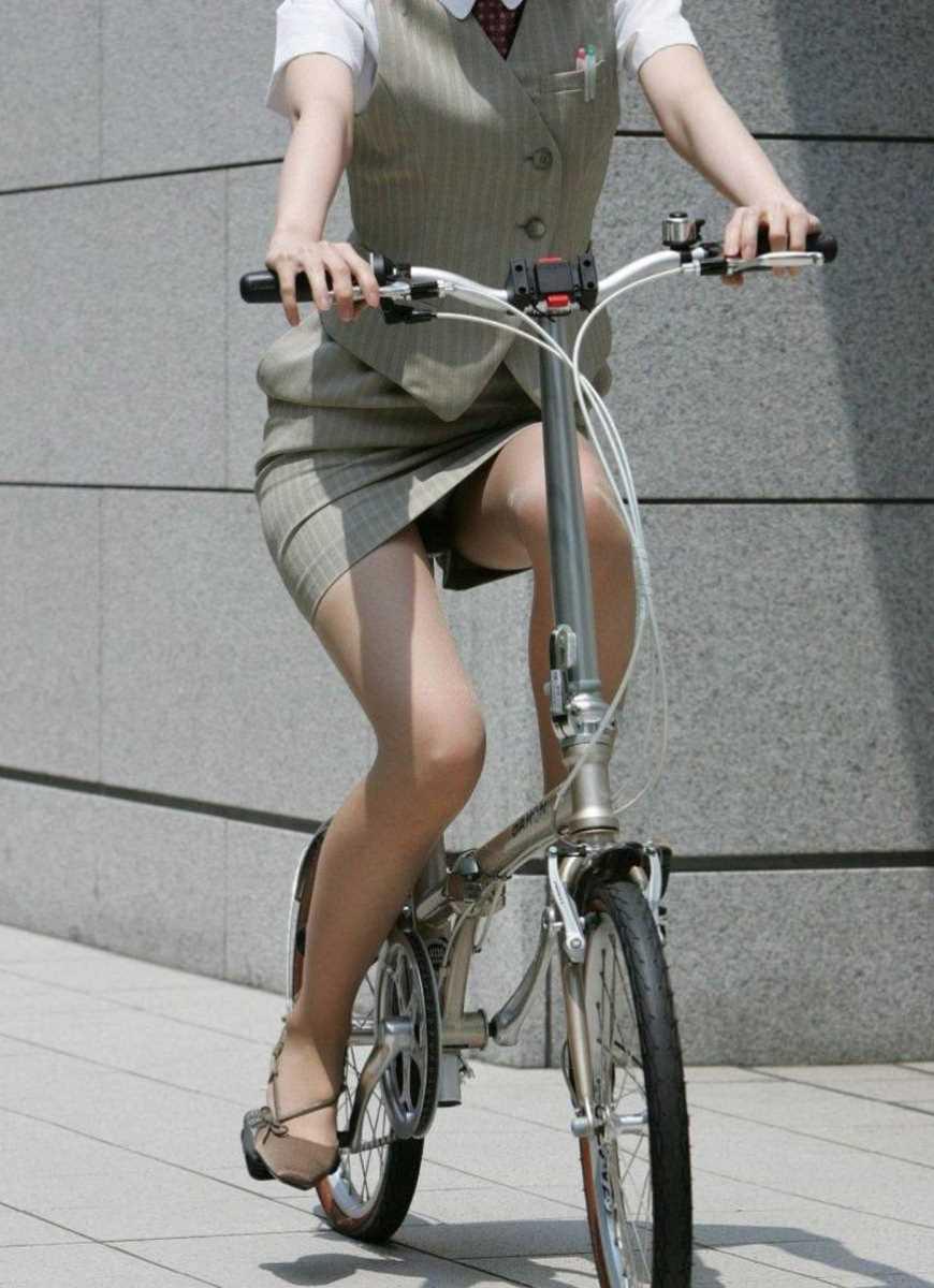 自転車OL画像 90