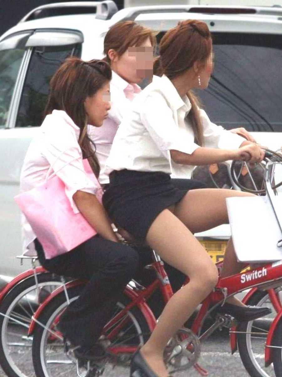 自転車OL画像 92