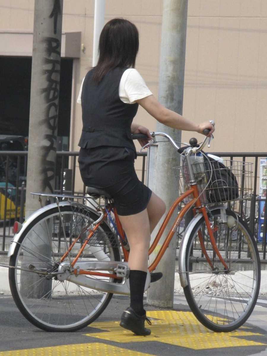 自転車OL画像 95