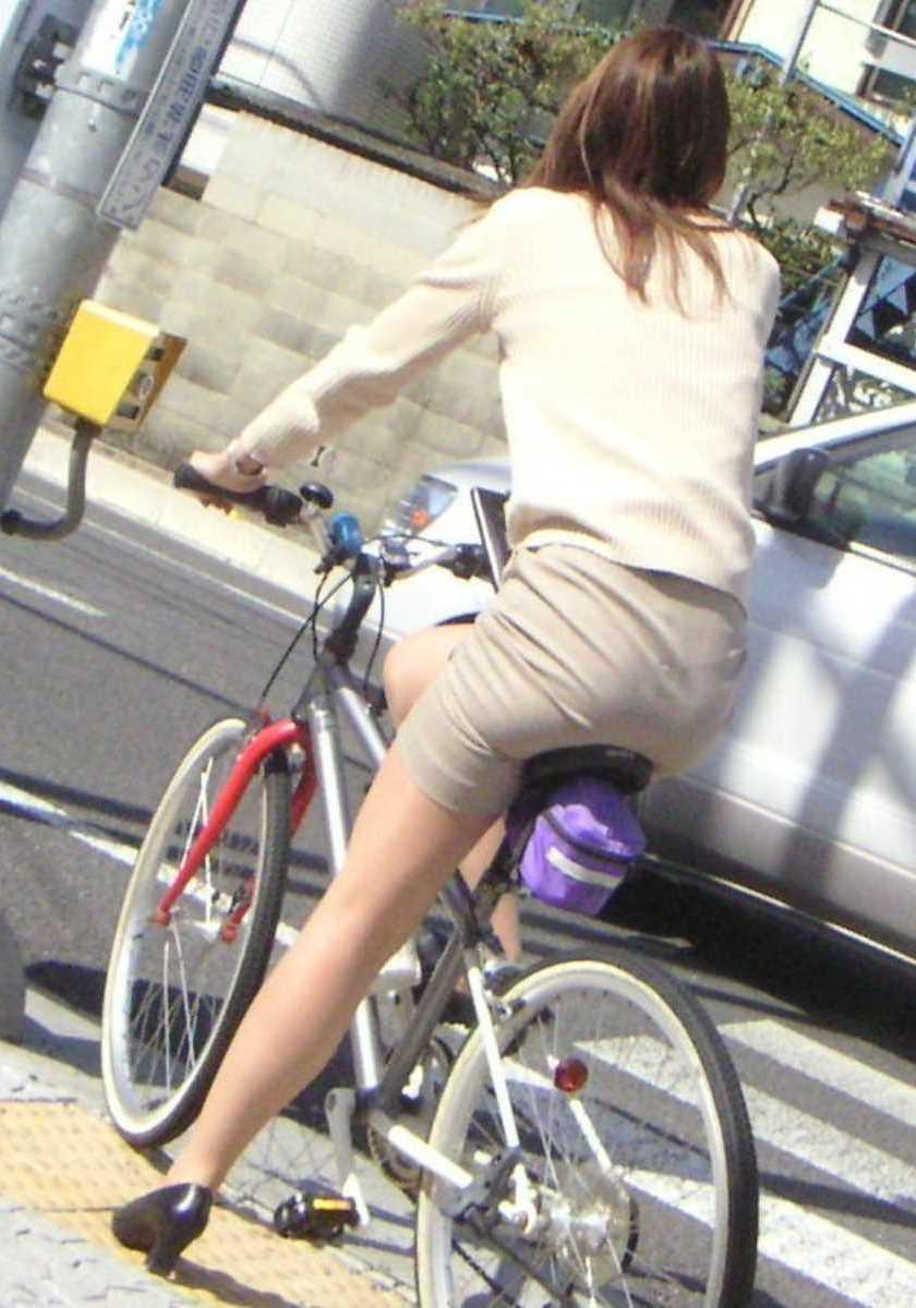 自転車OL画像 97