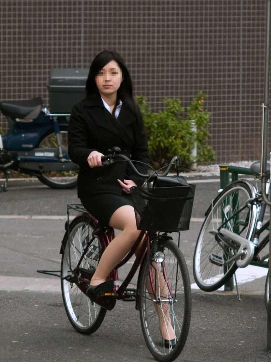 自転車OL画像 98