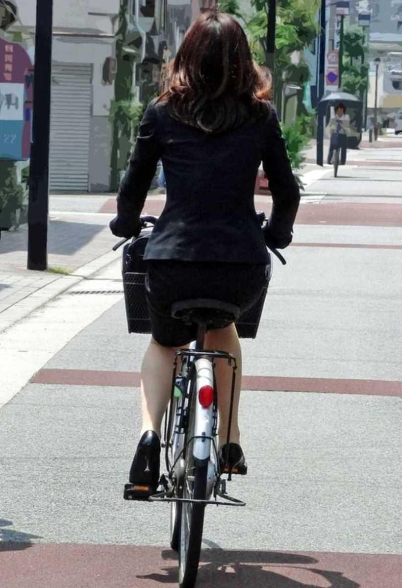 自転車OL画像 100