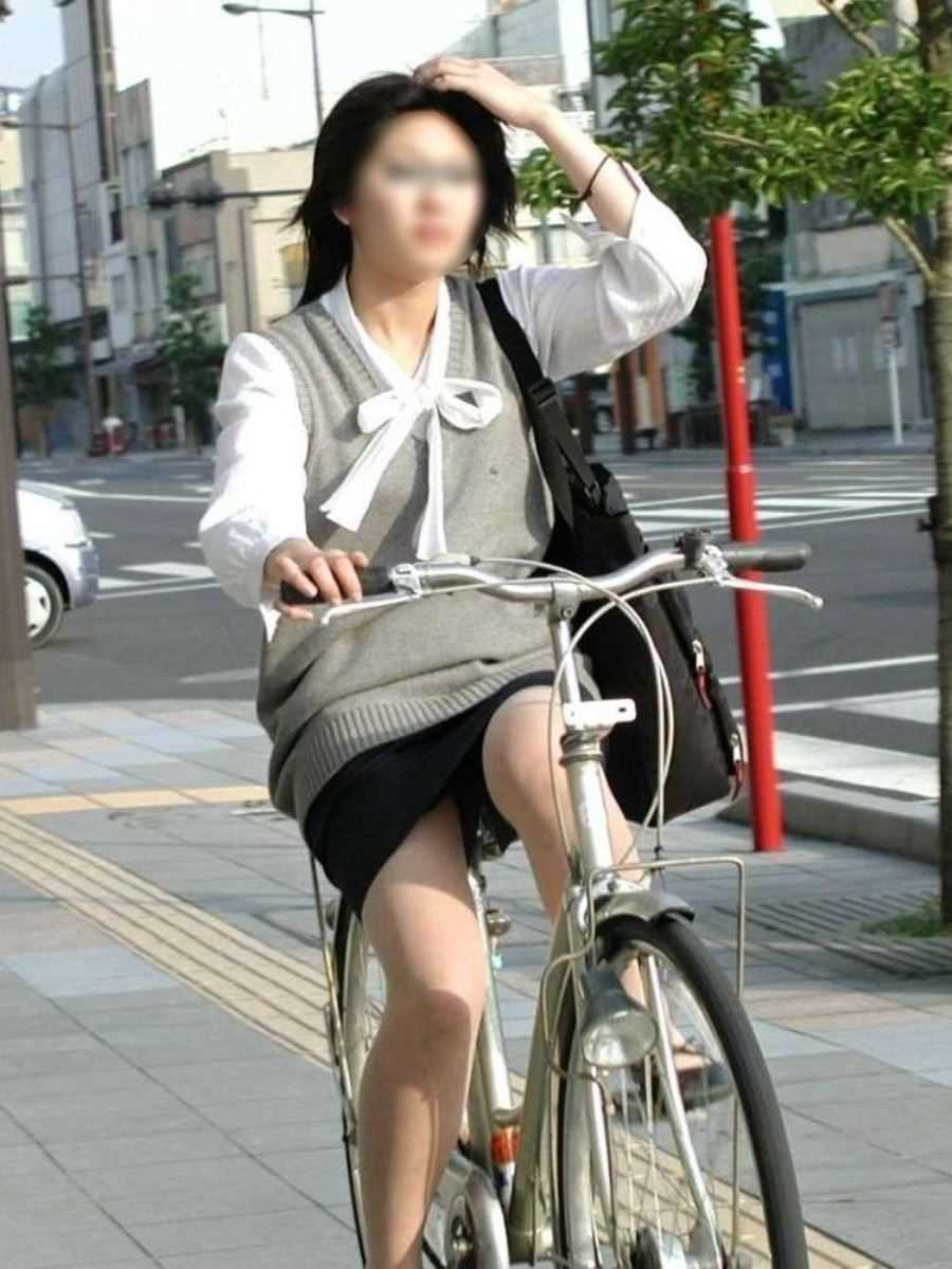 自転車OL画像 101